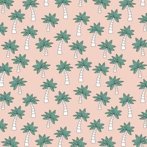 Palm tree jungle and little tropical garden surf print theme summer sand green ocean