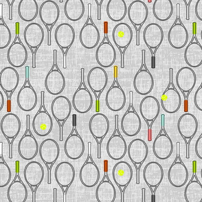 gray grid tennis