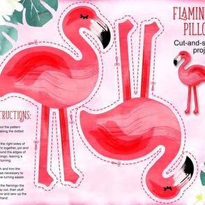 Flamingo pillow yard