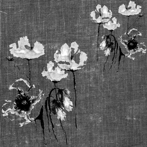 POPPIES DISTRESSED TEXTURED GREY