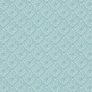 Boxes // teal on white