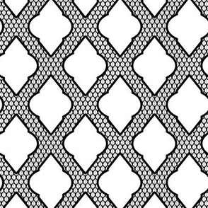 Moroccan lattice in Black and White