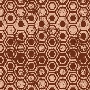 Worn hexagons | copper
