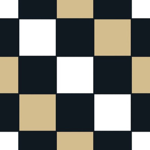 The Gold and the Black: Floating Checker Squares_With White