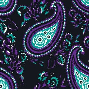 Polly Paisley - Black 2 Large