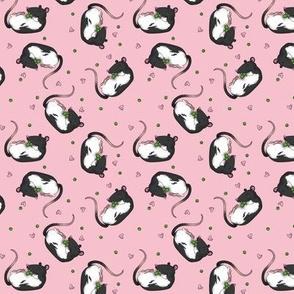 Rats & peas -pink
