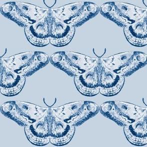 Delft Vibe Classic Blue Mystic Moth on Light Blue