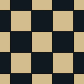 The Gold and the Black: Floating Checker Squares -  No White