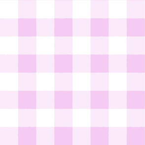 Buffalo Check Pink White Plaid Watercolor Style