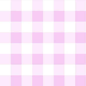 Buffalo Check Baby Pink White Plaid Style