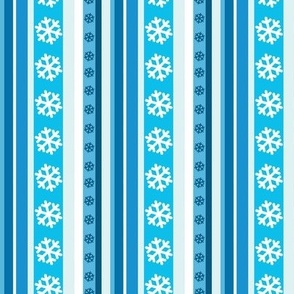 Winter Stripes with Snowflakes