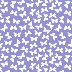 White Butterflies On Periwinkle