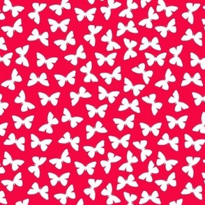 White Butterflies On Red