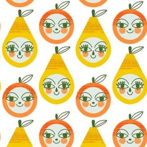 Peachy Keen - fruity faces