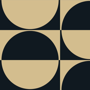 The Gold and the Black: Half Drop Half Circles