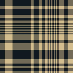 The Gold and the Black: Blended Plaid - LARGE