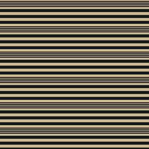 The Gold and the Black_Mini Stripes_Horizontal