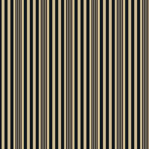 The Gold and the Black: Mini Stripes