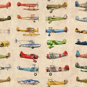 Antiqued Planes Fabric Repeat