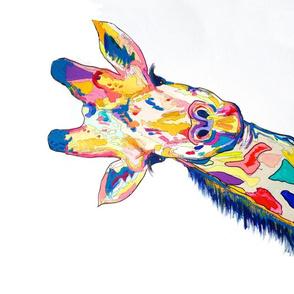 The Painted Giraffe Tea Towel