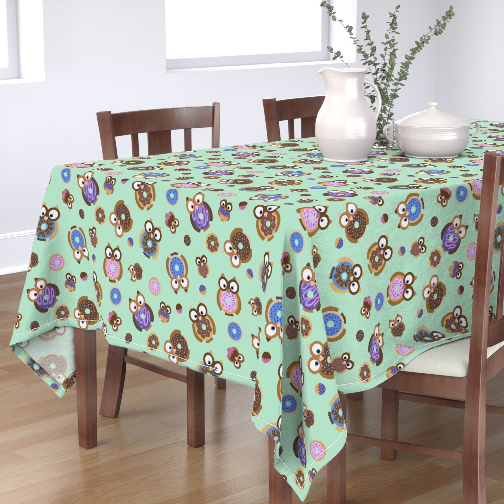 Bantam Rectangular Tablecloth featuring Mint Chocolate by curlee_q