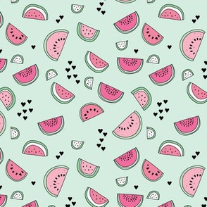 Sweet watermelon sugar love summer fruit garden mint pink