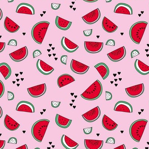 Sweet watermelon sugar love summer fruit garden pink red