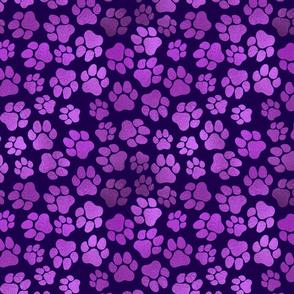 Purple Paw Prints