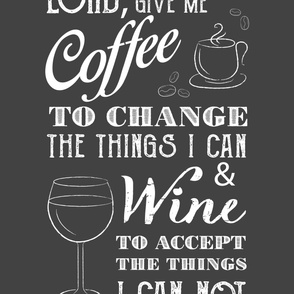 Give Me Coffee, Give Me Wine - Gray (x-large)