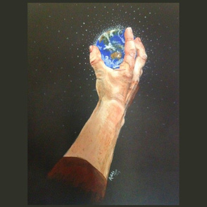 Whole world in his hand