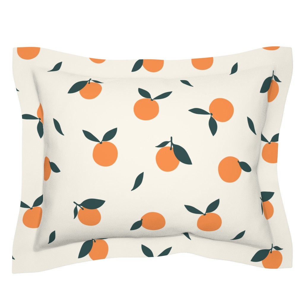 Sebright Pillow Sham featuring Clementine_Ivory by kimsa
