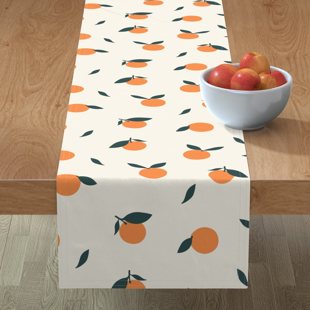 Minorca Table Runner featuring Clementine_Ivory by kimsa