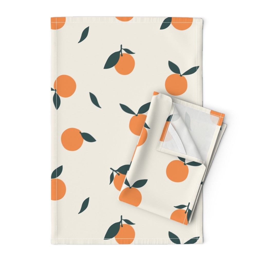 Orpington Tea Towels featuring Clementine_Ivory by kimsa