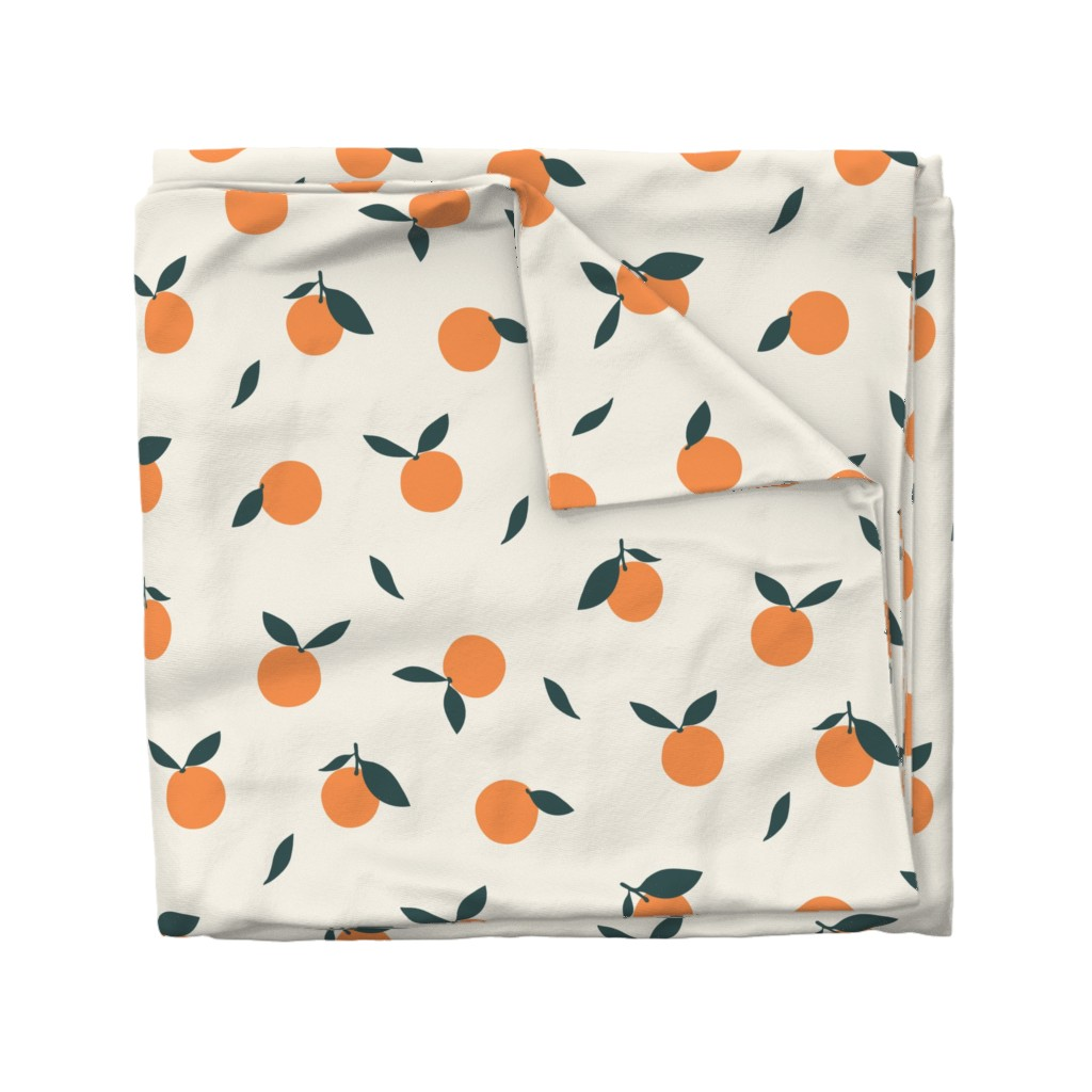 Wyandotte Duvet Cover featuring Clementine_Ivory by kimsa