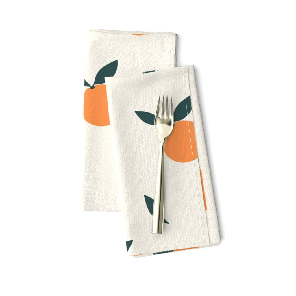 Amarela Dinner Napkins featuring Clementine_Ivory by kimsa