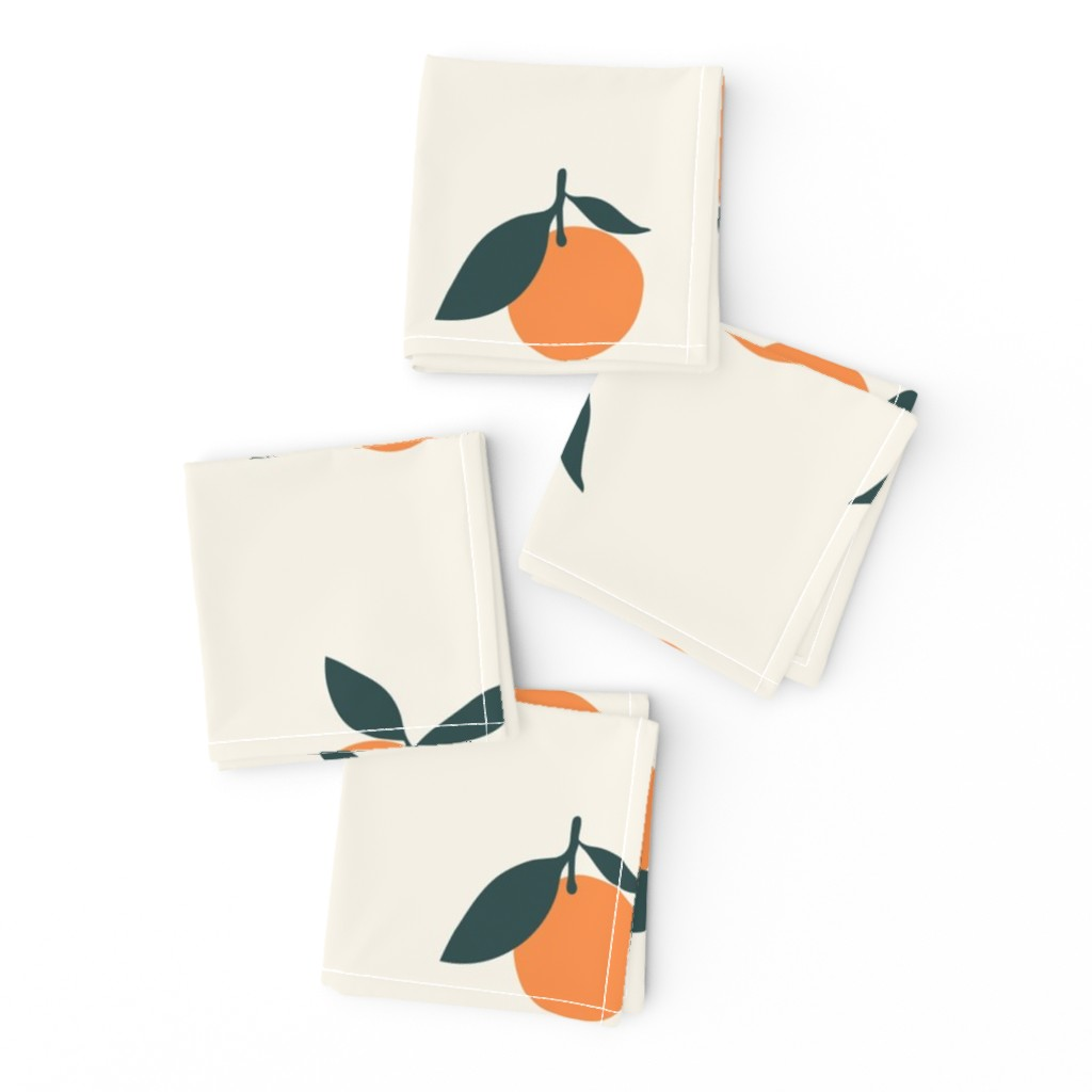 Frizzle Cocktail Napkins featuring Clementine_Ivory by kimsa