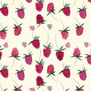 Garden Party Raspberries in White