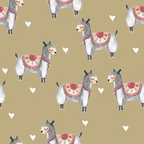 sleep llama white love