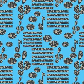 Musical Botanical Blue I