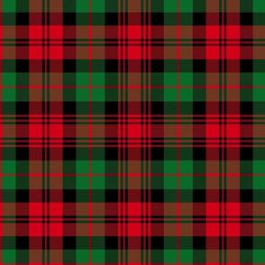 "Christmas tartan based on Campbell / Black Watch tartan, 12"""