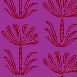 seven petals FUSCHIA