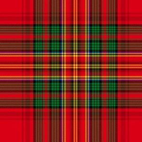 Christmas tartan based on Stewart variation