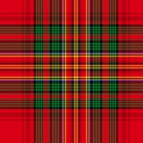Christmas tartan based on Stewart variation, 8""