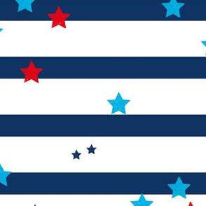 Stars and stripes American traditional flag colors 4th of July celebrations LARGE