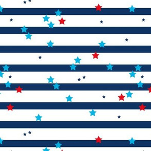 Stars and stripes American traditional flag colors 4th of July celebrations