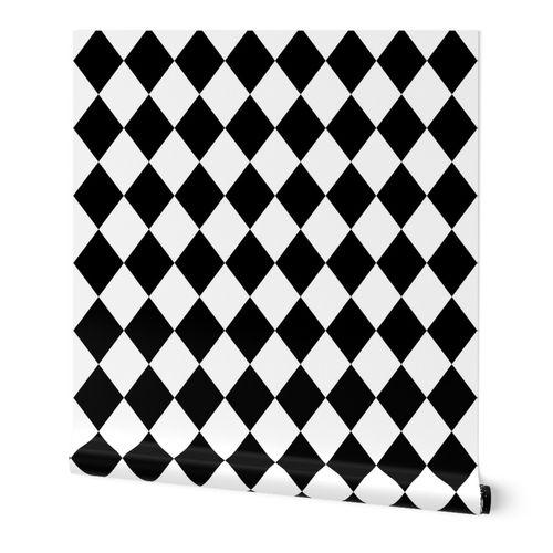 Black And White Diamond Pattern Spoonflower