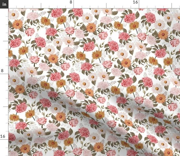 Nice Marble Print tone-on-tone med raspberry rose Fabric
