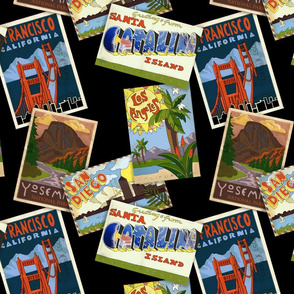 Retro Cali Postcards