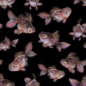 Dark pattern with fish