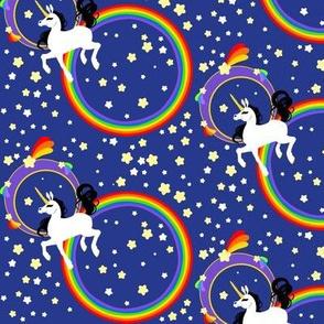 Unicorns Circle Rainbow